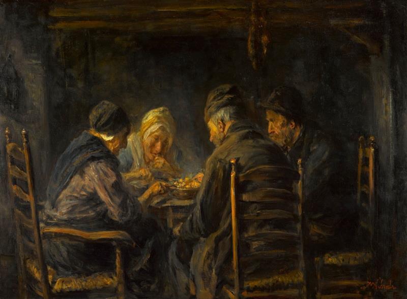 Cuadro de Jozef Israëls Comedores de patatas